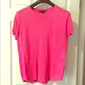 Marc by Marc Jacobs Pink Linen Tee
